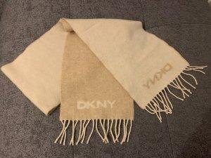 DKNY Bufanda de lana beige claro-marrón claro