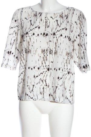 DKNY Blusa caída blanco-negro estampado con diseño abstracto look casual