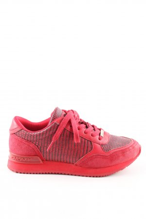 DKNY Schnürsneaker rot Animalmuster Casual-Look