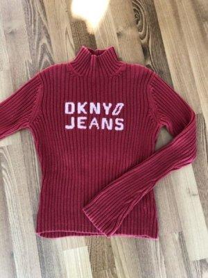 DKNY°Schöner klass. Logo-Pullover°rot°Gr. M°sehr gepflegter Zustand°Baumwolle°