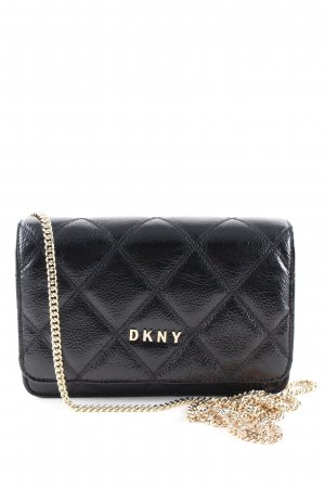 DKNY Schultertasche schwarz Steppmuster Casual-Look