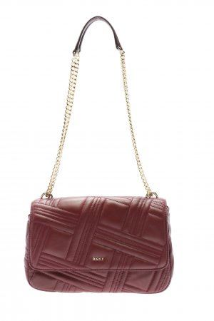 DKNY Schultertasche rot Steppmuster Casual-Look