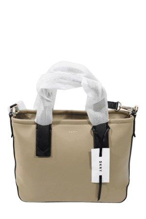 DKNY Schultertasche in Beige aus Leder