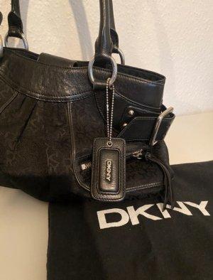 DKNY schwarze Handtasche mit Print
