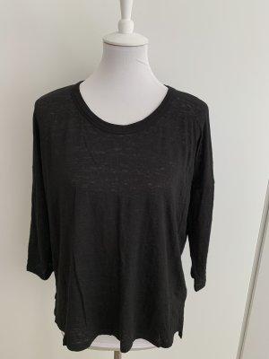 DKNY schwarzes Leinenshirt mit 7/8 Arm