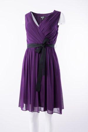 DKNY - Seidenkleid mit Schleife Violett