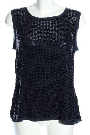 DKNY Zijden top zwart feest stijl