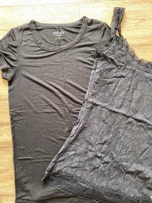 DKNY Set / tshirt + Spitzentop