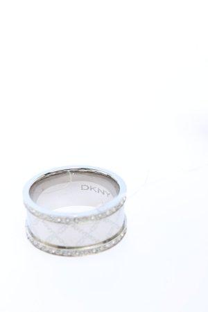 DKNY Anillo de plata gris claro look casual