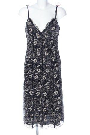 DKNY Lace Dress black-natural white allover print elegant