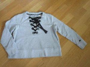 DKNY Sweatshirt gris clair coton