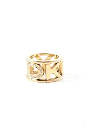 DKNY Anillo de cuentas color oro elegante