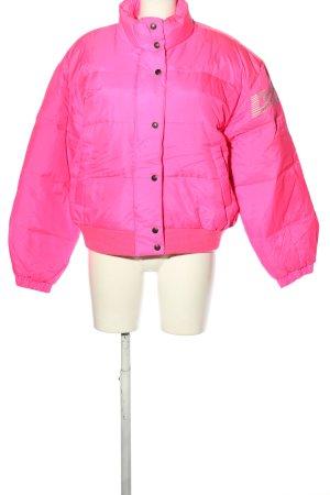 DKNY Veste matelassée rose lettrage imprimé style décontracté