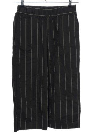 DKNY Stoffhose schwarz-weiß Streifenmuster Casual-Look
