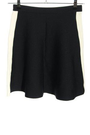 DKNY Falda stretch negro-blanco puro elegante