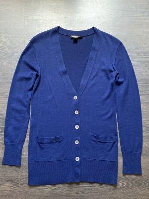 DKNY Veste en tricot bleu laine