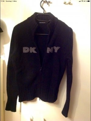 DKNY Coarse Knitted Jacket black