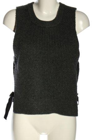 DKNY Gebreide top lichtgrijs-zwart gestippeld casual uitstraling