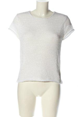 DKNY Strickshirt weiß Zopfmuster Casual-Look