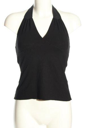 DKNY Strickshirt schwarz Casual-Look