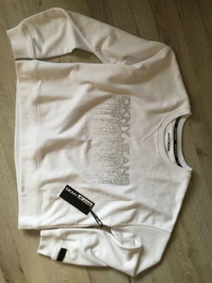 DKNY Suéter blanco-color plata
