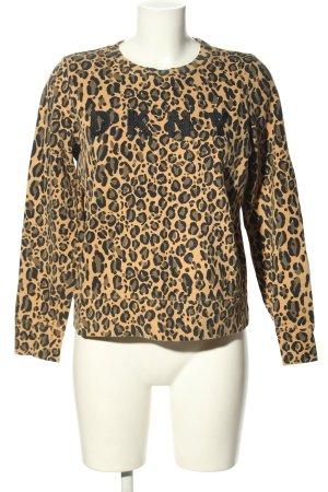 DKNY Sweat Shirt leopard pattern casual look