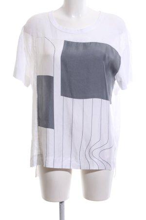 DKNY T-Shirt weiß-hellgrau Motivdruck Casual-Look