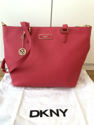 DKNY Tote magenta-pink leather