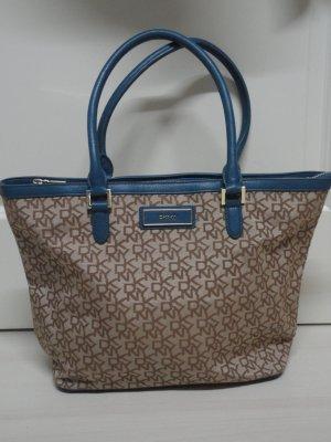 DKNY Tasche in blau/beige