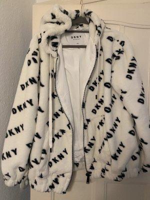 DKNY Hoody white-black polyester