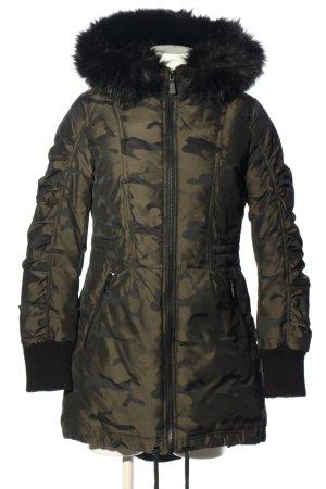 DKNY Veste mi-saison kaki-noir motif de camouflage style décontracté