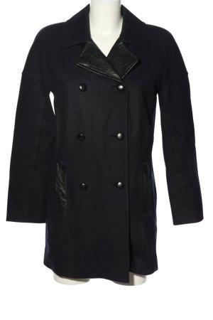 DKNY Cappotto mezza stagione blu-nero stile professionale