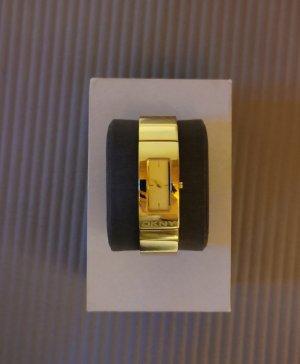 DKNY Reloj con pulsera metálica color oro