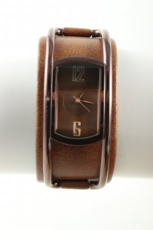 DKNY Watch With Leather Strap brown business style