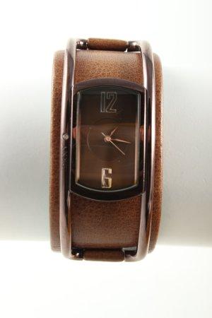 DKNY Montre avec bracelet en cuir brun style d'affaires