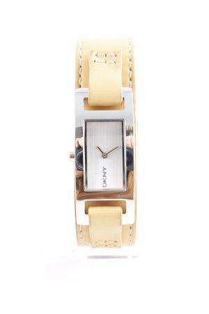 DKNY Uhr mit Lederarmband camel-silberfarben Casual-Look