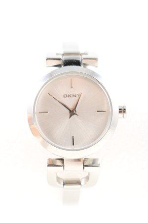 DKNY Horloge met metalen riempje zilver casual uitstraling
