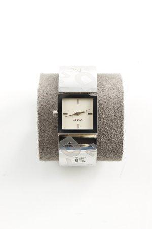 DKNY Uhrenspange schwarz-silberfarben Casual-Look