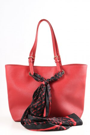 DKNY Umhängetasche rot-schwarz Casual-Look