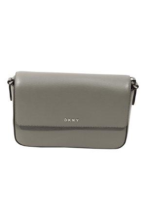 DKNY Umhängetasche in Grau aus Leder