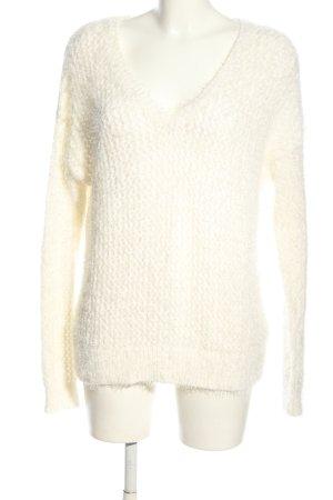DKNY Maglione con scollo a V bianco sporco stile casual