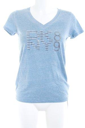 DKNY V-Ausschnitt-Shirt meliert Casual-Look