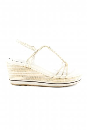 DKNY Wedges Sandaletten goldfarben Casual-Look
