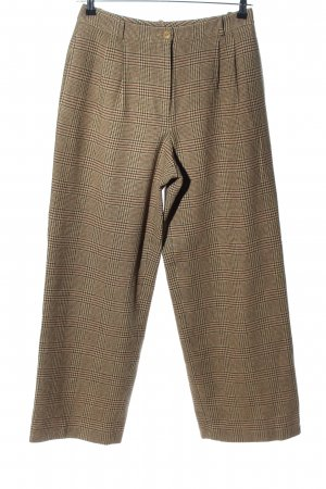 DKNY Woolen Trousers brown-cream check pattern business style