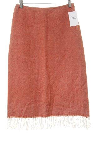 DKNY Wollrock lachs-wollweiß Streifenmuster Country-Look