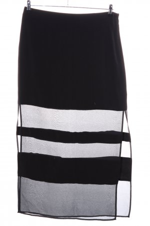 DKNYC Maxi rok zwart gestreept patroon casual uitstraling