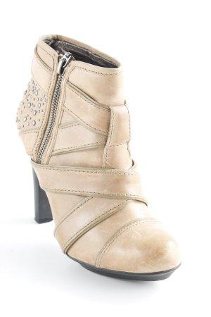 DKNY Reißverschluss-Stiefeletten sandbraun Nieten-Detail