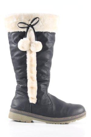 DL Sport Bottes d'hiver noir-blanc style décontracté