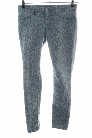 Dl1961 Leggings blau-schwarz Leomuster Casual-Look
