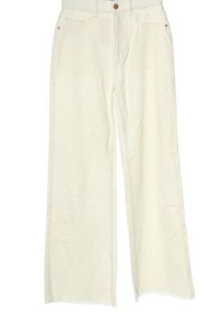 Dl1961 Jeans large blanc cassé style décontracté
